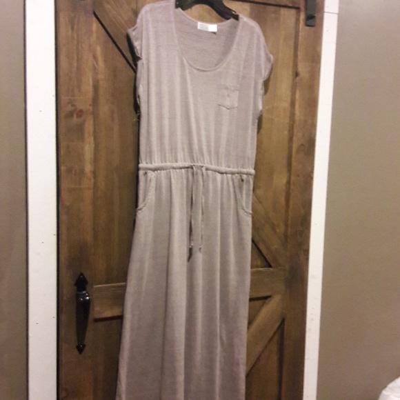 c756302d4031 Womens sz XL Time   Tru beige maxi dress. M 5c0f0736df0307ff24fae2f5
